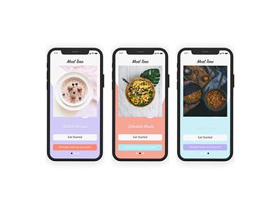 MealTime adobe xd ui design mobile ui design mobile