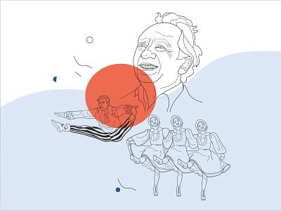 иллюстрация танец книжная иллюстрация иллюстрация вектор векторная графика