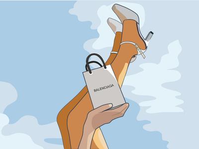 ноги иллюстратор моды человек девушка ноги digital art digital иллюстратор иллюстрация вектор векторная графика