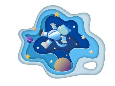 Space cat space vector illustration vectorart vector illustraion