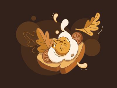 Gudetama 1 egg food monochromegamma monochrome gudetama illustration art illustrator vectorart vector illustration vector