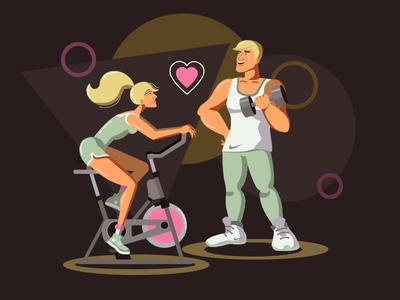 Sports characters fitness girl guy sportcharacter sport illustration art illustration vector illustration vectorart vector