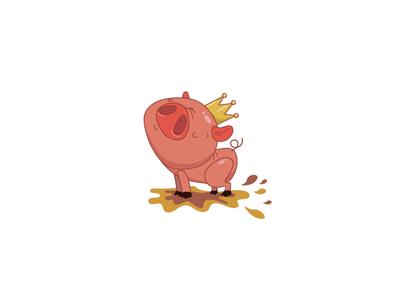 Piglet vector pig animals motiongraphics motion illustration vector illustration