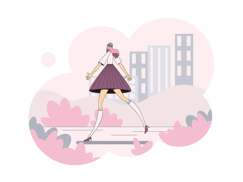 lovely Lola character design character vector illustration vector art vector