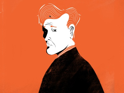 Conan O'Brien portrait orange color orange illustration team coco celebrity conan portrait character art talk show conan illustration conan obrien conan illustration farhay florian farhay character design