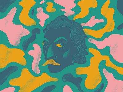 Gauguin Portrait impressionism florian farhay illustration artwork art portrait art moustache character moustache head moustache head character head portrait head painting portrait painting paul gauguin farhay portrait painter portrait painter gauguin