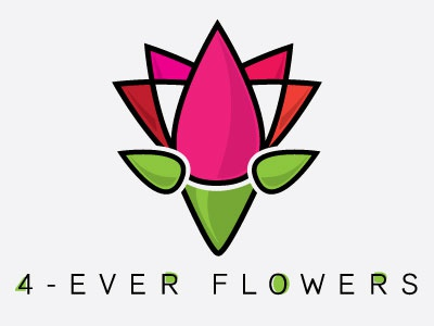 Forever Flowers Logo logo design flowers abstract geometric lines simple