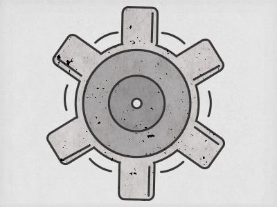 Gear icon gear simple movement gray graphic design grunge
