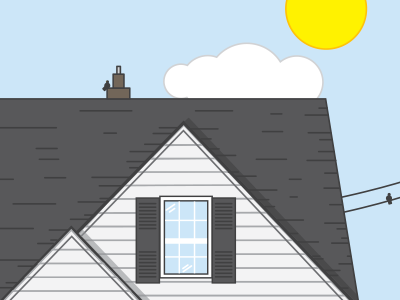 Building a House gray blue outside home line simple icon house drawing
