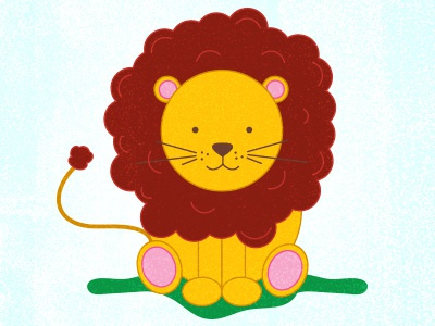 I'm a Lion, RAWR! zoo illustrator lion jungle yellow red illustration baby cute drawing animal