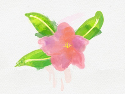 Watercolor Flower paint nature photoshop illustrator illustration design flower effects watercolor