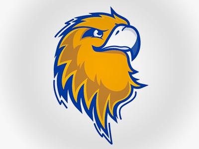 Mascot golden bird eagle vector logo mascot