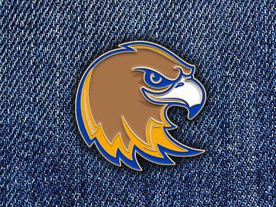 Logo Enamel Pin eagle logo eagle enamelpin enamel pin mascot logo mascot logo design logo