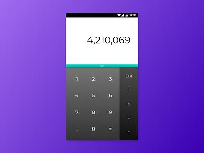 Calculator 'an ancient classic the modern way' design app ux ui