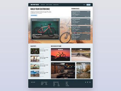 Bike Part Picker app web ux ui