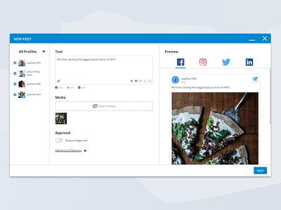 Social Media Management - Posting product design management facebook twitter post web app social media