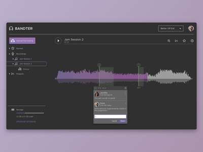 Music Annotations Web Application application web ui ux materialdesign music product design