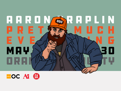Aaron Draplin - Pretty Much Everything likeness illustration speaker i want you ddc lecture art institute general assembly orange county aiga draplin aaron draplin