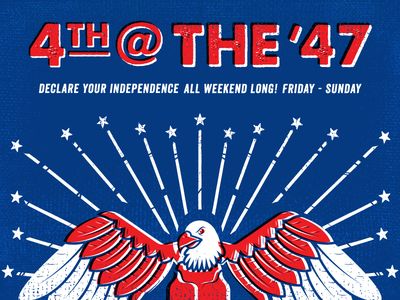 Class Of 47 - 4th of July Celebration stars  stripes independence day 4th of july advertisement bar bird illustration class eagle