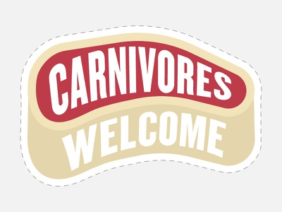 Beyond Meat - Photobooth Prop - Carnivores Welcome beyond meat cutout meat vegetarian vegan prop photobooth