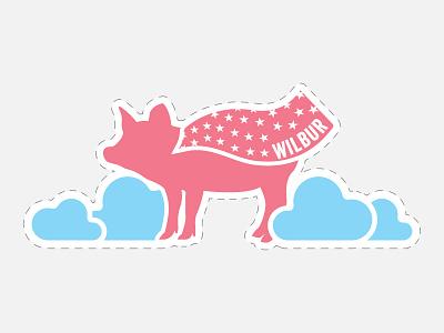 Beyond Meat - Photobooth Prop - Flying Wilbur when pigs fly beyond meat cutout pig flying vegetarian vegan prop photobooth