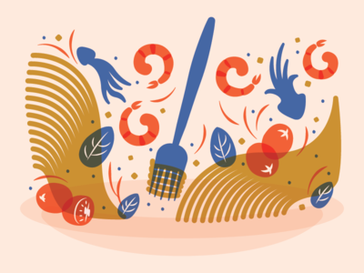 Sauté Magazine - Noodle Spot Illustration multiply magazine overlay culinary editorial illustration pasta noodles food