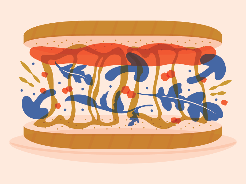Saute  magazine   spot illustration april national grilled cheese month