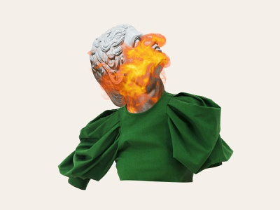 fire burning digital artist digital art green fire sculpture fashion collage collage digital black and white face collage maker portrait illustration collage art collage artwork art direction art