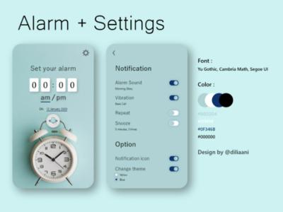Alarm (Blue Theme)