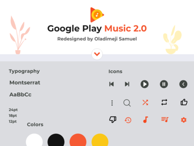 Google PlayMusic 2.0 Soft UI ux ui