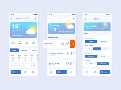 Weather Forecast App weather app weather mobile app design