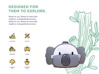 Customize illustration for Koala backpack