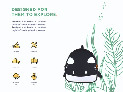 Customize illustration for Orca backpack