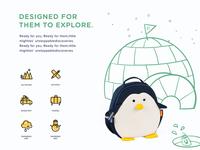 Customize illustration for Penguin backpack