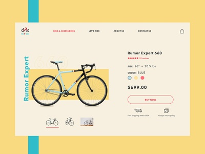 Bike Store Product Page