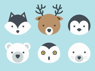 Animal icons figma vector ui design animal icons