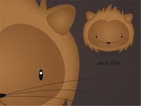 Lion - cute size