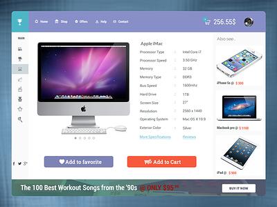 Mento - Cart page. wordpress website cart shop ui flat clean simple minimal ecommerce