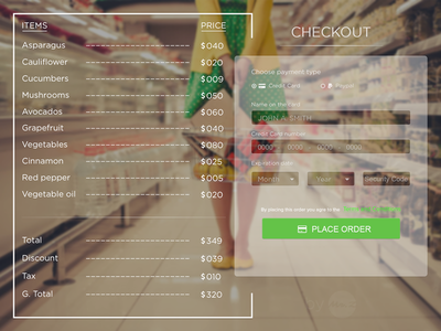 #Dailyui  #002 : Credit Card Checkout daily ui check out web interface simple clean ui shopping shop payment