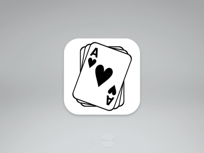 #Dailyui  #005 : App Icon daily ui app icon simple clean minimal ui screen mobile poker casino icon