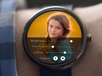 #Dailyui  #007 : Settings daily ui smart watch andoid iwatch ui watch app settings