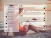 #Dailyui  #013 : Direct Messaging daily ui direct messaging web interface simple clean minimal ui message