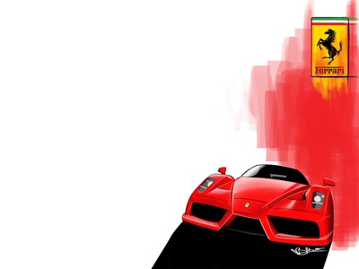 Ferrari Enzo Illustration