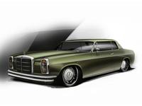 Mercedes Benz W114 Lowrider Illustration