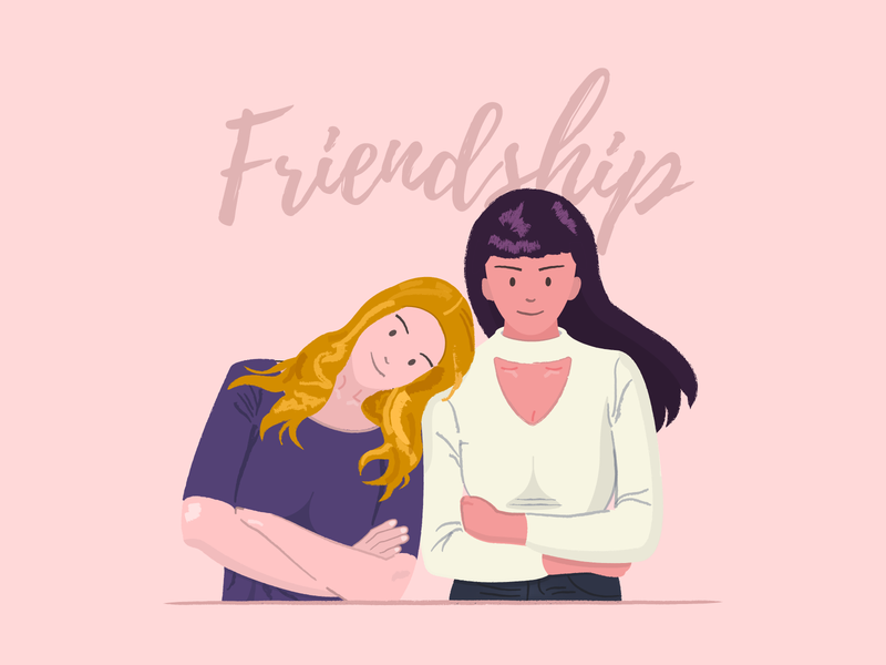 Friendship illustration friends friendship illustration