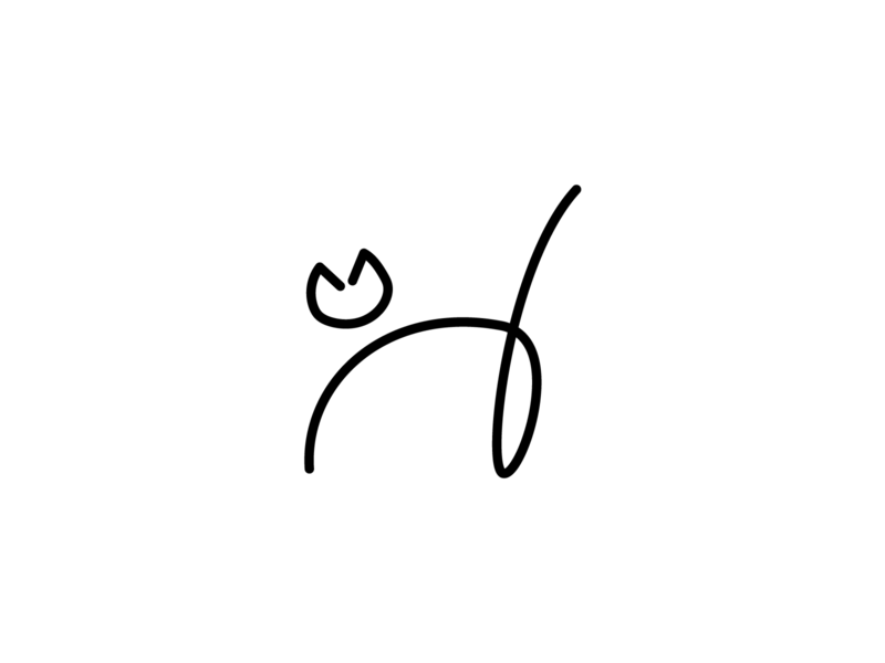 Cat line art illustrator logo branding design art graphic graphic design vector minimalist minimal line art lineart