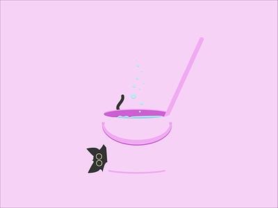 Catventure #7 character design concept purple minimal illustration design art minimalist vector graphic graphic design character clean catventure cat
