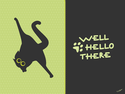 Catventure #13 yoga lettering green catventure black cat funny character design character cat illustrator minimal illustration design art minimalist vector graphic graphic design