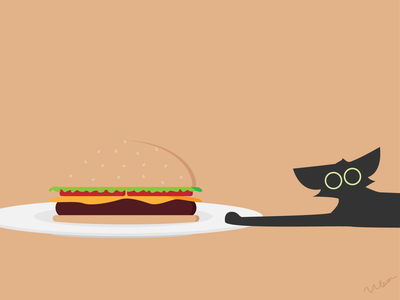 Catventure #14 burger character design charcter cat illustrator minimal illustration art design minimalist vector graphic graphic design