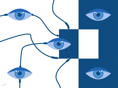 Open your eyes creepy abstract art classic blue blue eye catching eye eyesight eyes geometric design abstract minimal illustration design art minimalist vector graphic graphic design